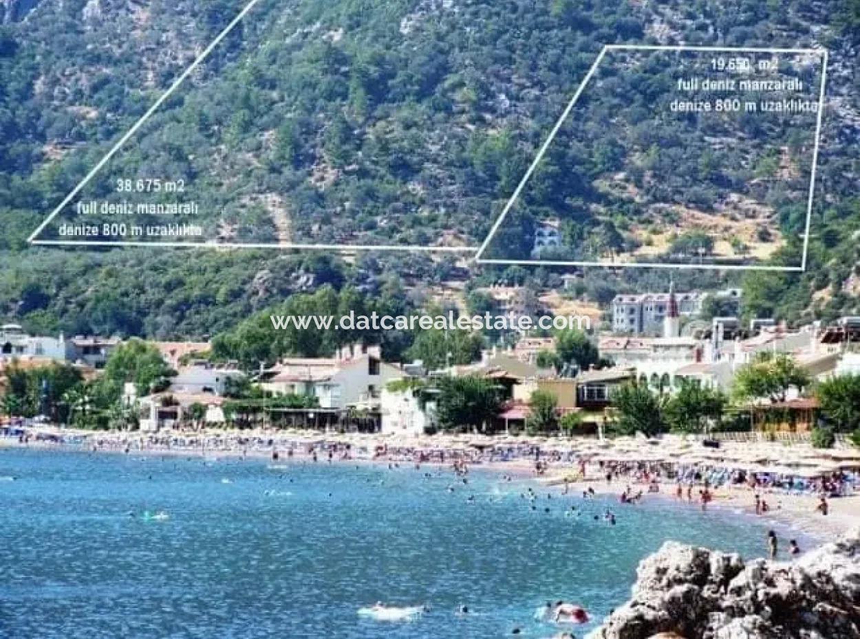 Marmaris,Den 18 Km Uzaklıkta  20000M2 İmarlı Deniz Manzaralı Arsa Satılık
